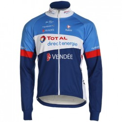 2019 Total Blue Long Sleeve Cycling Jersey