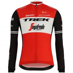 2019 Trek Factory Racing Red Long Sleeve Cycling Jersey