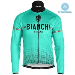 2019 Bianchi Milano XD Green Thermal Long Sleeve Cycling Jersey