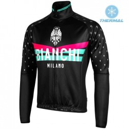 2019 Bianchi Milano PB Black Thermal Long Sleeve Cycling Jersey