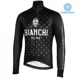 2019 Bianchi Milano FT Black Thermal Long Sleeve Cycling Jersey