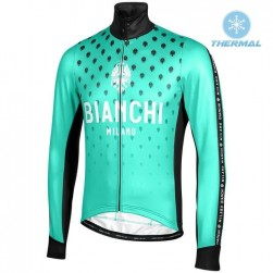 2019 Bianchi Milano FT Green Thermal Long Sleeve Cycling Jersey