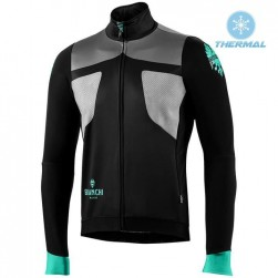 2019 Bianchi Black-Grey Thermal Long Sleeve Cycling Jersey