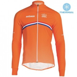 2019 Nederland Country Team Thermal Long Sleeve Cycling Jersey