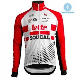 2019 Team Lotto Red Thermal Long Sleeve Cycling Jersey
