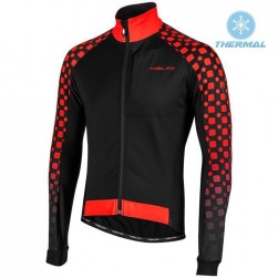 2019 Nalini CRIT 3L 2.0 Black-Red Thermal Long Sleeve Cycling Jersey