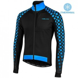 2019 Nalini CRIT 3L 2.0 Black-Blue Thermal Long Sleeve Cycling Jersey