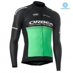 2019 Orbea Factory Racing Green Thermal Long Sleeve Cycling Jersey