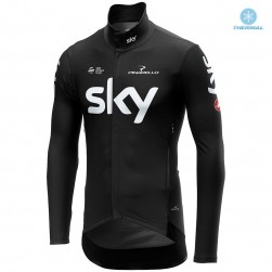 2019 SKY Team Black Thermal Long Sleeve Cycling Jersey