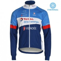 2019 Total Blue Thermal Long Sleeve Cycling Jersey