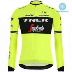 2019 Trek Factory Racing Yellow Thermal Long Sleeve Cycling Jersey