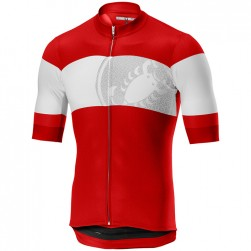 2019 Casteli Ruota Red Cycling Jersey