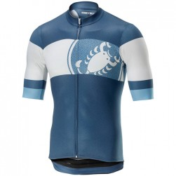 2019 Casteli Ruota Blue Cycling Jersey
