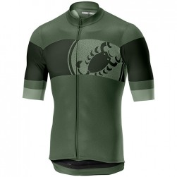2019 Casteli Ruota Green Cycling Jersey