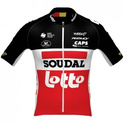 2020 Lotto Soudal Red Cycling Jersey