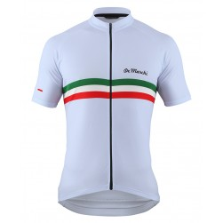 2016 De Marchi PT Italy Flag White Cycling Jersey