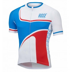 2016 Rose Retro Blue-White Cycling Jersey