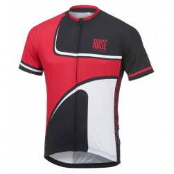 2016 Rose Retro Black-Red Cycling Jersey