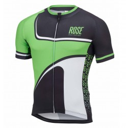 2016 Rose Retro Black-Green Cycling Jersey