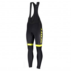 2019 Scott RC Team Black-Yellow Cycling Bib Pants