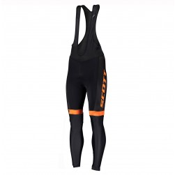 2019 Scott RC Team Black-Orange Cycling Bib Pants