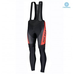 2019 Scott RC Red-Black Thermal Cycling Bib Pants