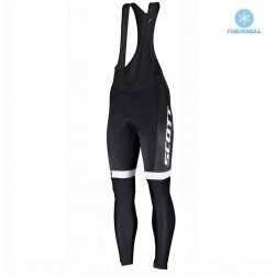 2019 Scott RC Team Black-White Thermal Cycling Bib Pants
