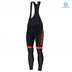2019 Scott RC Team Black-Red Thermal Cycling Bib Pants