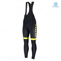 2019 Scott RC Team Black-Yellow Thermal Cycling Bib Pants