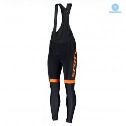 2019 Scott RC Team Black-Orange Thermal Cycling Bib Pants