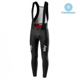 2019 SKY Team Black Thermal Cycling Bib Pants