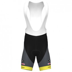 2020 Bingoal Wallonie Bruxelle Yellow Cycling Bib Shorts
