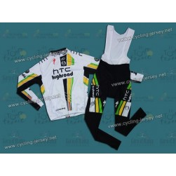 2011 Columbia HTC Highroad Cycling Long Sleeve Jersey And Bib Pants Set