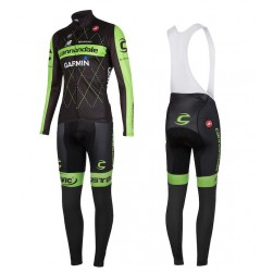 2015 Cannondale Garmin Black Long Sleeve Cycling Jersey And Bib Pants