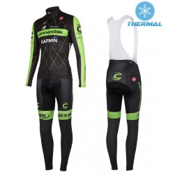 2015 Cannondale Garmin Black Thermal Long Sleeve Cycling Jersey And Bib Pants
