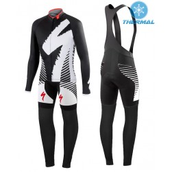 2015 SPED DSK Black And White Thermal Long Sleeve Cycling Jersey And Bib Pants