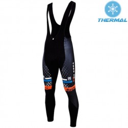 2015 De-Rosa Santini Black Thermal Cycling Bib Pants