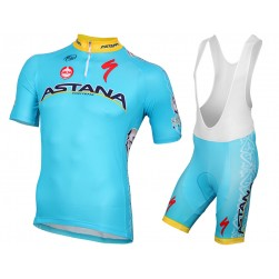 2015 Team Astana Cycling Jersey And Bib Shorts Set