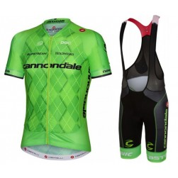 2016 Cannondale-Garmin Team Green Pro Cycling Jersey And Bib Shorts Set
