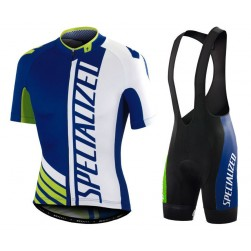 2016 SPED Pro Team SZK Blue-White-Green Cycling Jersey And Bib Shorts Set