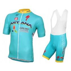 2016 Astana Pro Team Cycling Jersey And Bib Shorts Set