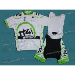 2012 Team Project 1t4i White Cycling Jersey and Bib Shorts Set