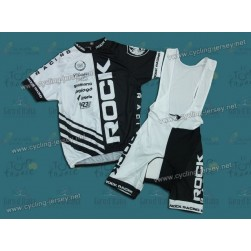 O.G. 2.0 Rоck Rаcing In White/Black Cycling Jersey And Bib Shorts Set