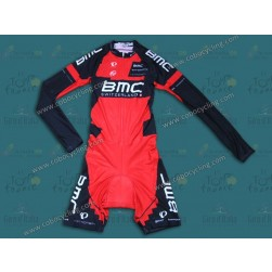 2014 Team BMC Long Sleeve Cycling Skinsuit Time Trail Skin Suits