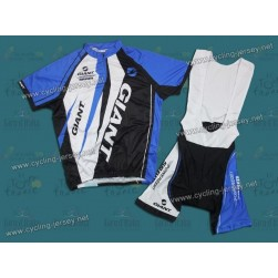 2012 Giant Sram Black And Blue Cycling Jersey and Bib Shorts Set