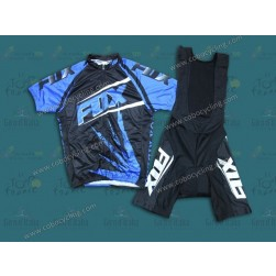 2014 Team Fox Blue Ice Cycling Jersey And Bib Shorts