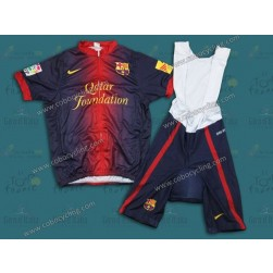 2013 Barcelona Barca Blue Cycling Jersey And Bib Shorts