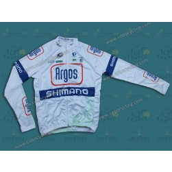 2013 Argos White Cycling Long Sleeve Jersey