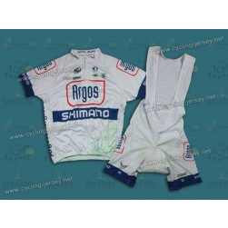 2013 Argos Shimano White Cycling Jersey And Bib Shorts