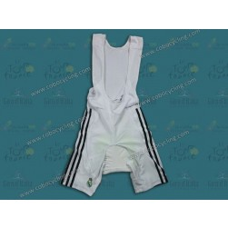 2013 Team Real Madrid White Cycling Bib Shorts